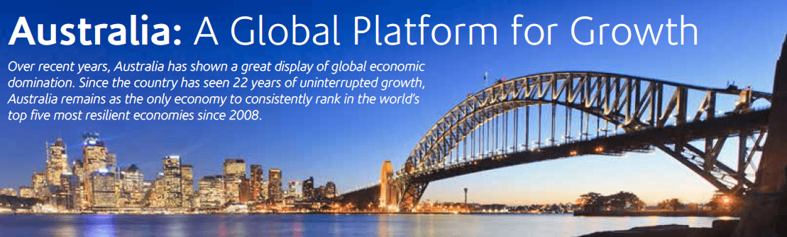 Australia global platform for growth graphic