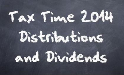 Dividends & Distributions Chalkboard